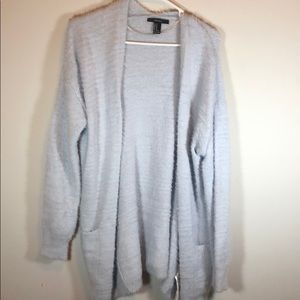 Forever 21 Tops - Forever 21 Light Blue Fuzzy Cardigan